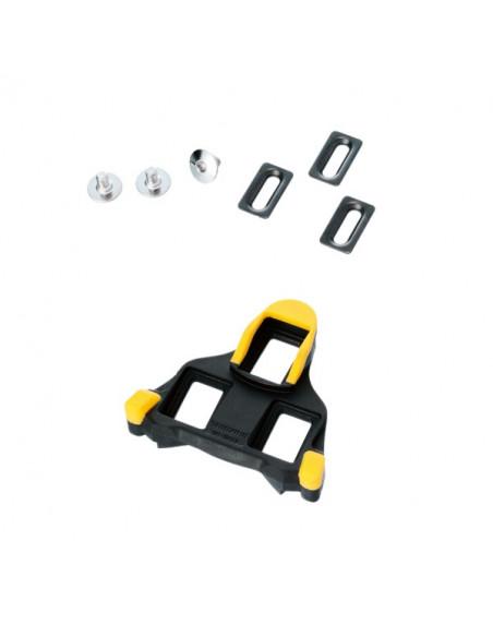 Shimano Pedalkloss SM-SH11, gul, Full rörlighet, 6 grader float
