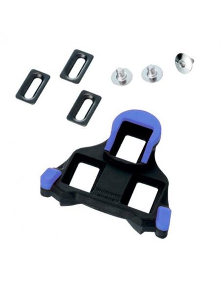 Shimano Pedalkloss SM-SH12, blå, Halv rörlighet, 2 grader float
